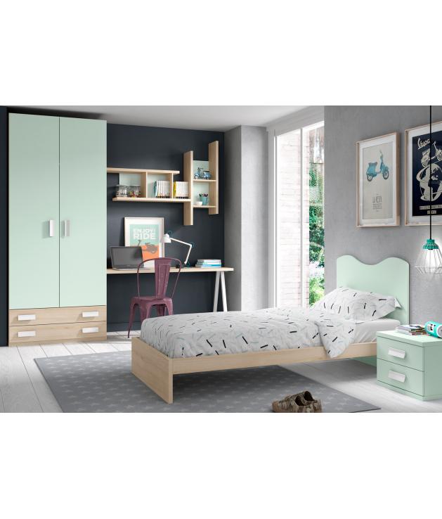 Habitación juvenil cabecero con bañera Basic 49