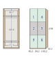 Armario juvenil 2 puertas 3 paneles