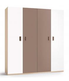 Armario juvenil 4 puertas lisas