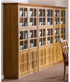Vitrina dos puertas madera