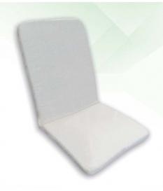 Cojín silla jardín blanco