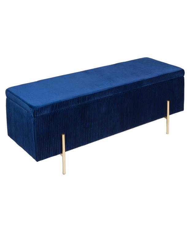 Baúl deco azul