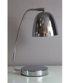 Lámpara sobremesa metal cromada