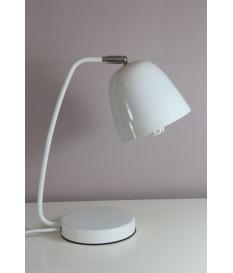 Lámpara sobremesa metal blanca
