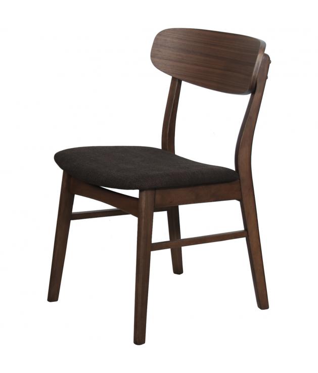 Set de 2 sillas comedor tapizado marrón 49,5 x 50,5 x 80 cm