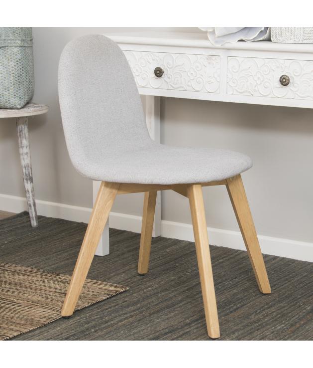 Set 2 sillas comedor tapizado beige