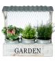Jardinera madera blanca 35x12x35 cm