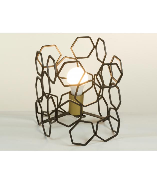 Lámpara mesa metal