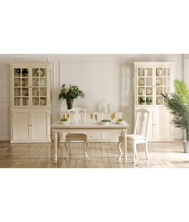 Mesa de comedor clásica extensible