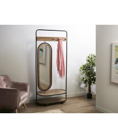 Bengalero madera y metal con espejo