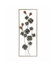 Aplique metal pared flores envejecidas
