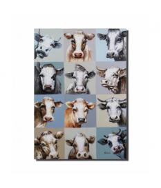 Cuadro lienzo al oleo 90x130 cm vacas