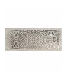 Cuadro madera mándala plata 150x60 cm