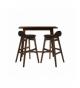 Mesa alta bar madera nogal