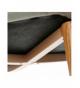 Set 4 taburetes tela gris c/patas metal acabado madera