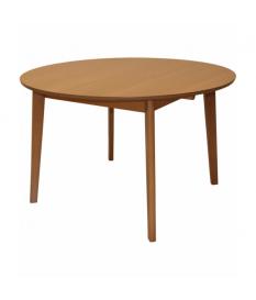 Mesa de comedor extensible redonda madera color haya