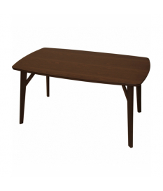 Mesa de comedor rectangular madera color nogal