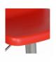 Set 2 taburetes acero cromado con asiento rojo pp, regulable en altura