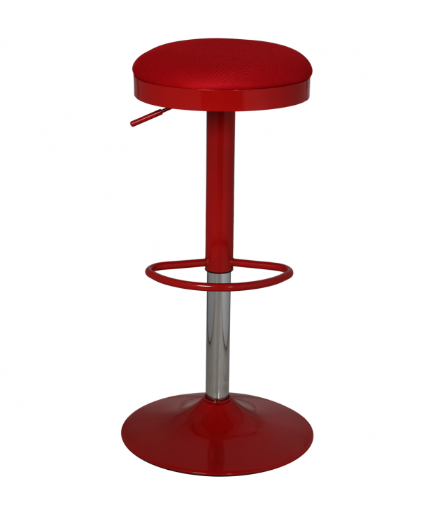 Set 2 taburetes acero crom.rojo c/asiento rejilla-reg.altura