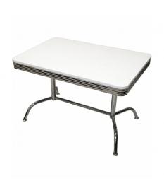 Mesa rectangular metal/maderablanca-