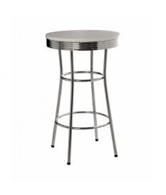 Mesa redonda metal/madera
