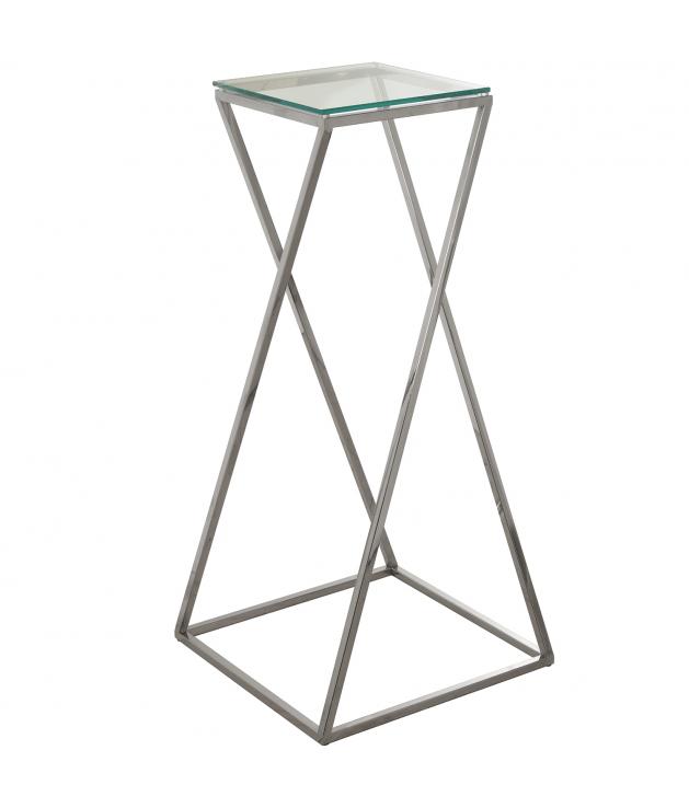 Pedestal metal/cristal