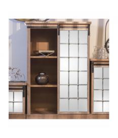 Mueble madera c/3 cajones y puerta corredera c/espejos