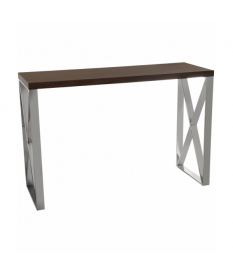 Consola entrada madera con patas de metal