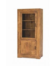 Vitrina rustica madera baja