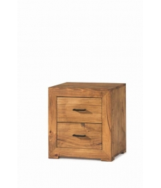 Mesita noche rustica madera