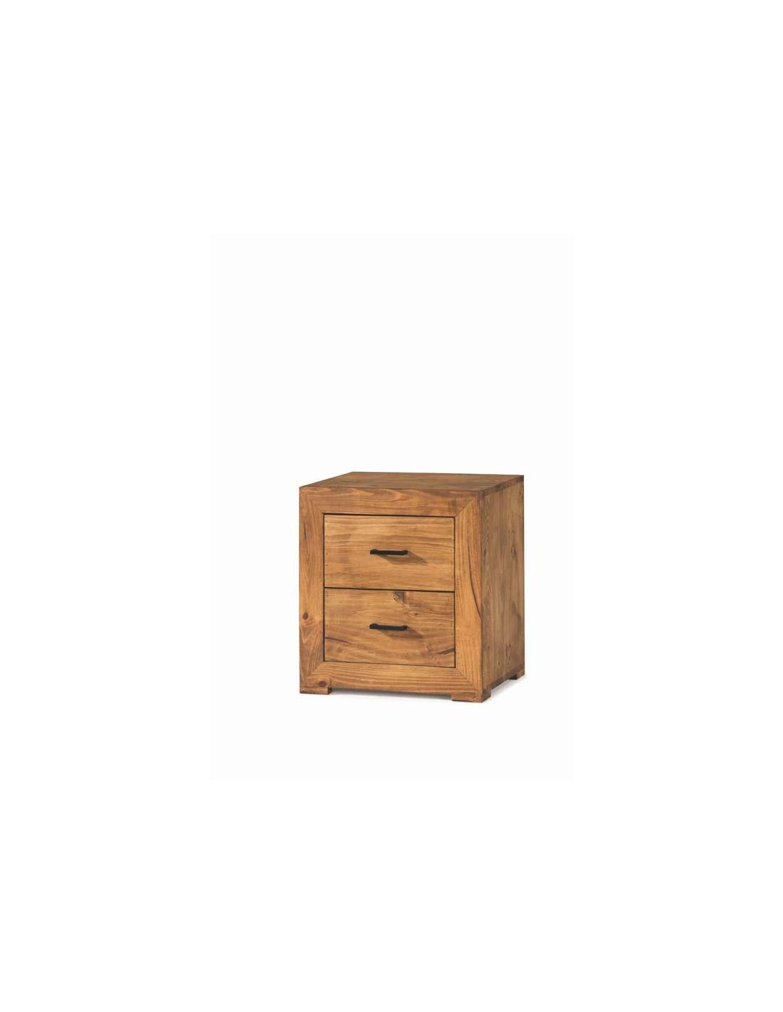 Comprar mesita noche rustica madera zoom - Mesitas de noche rusticas ...