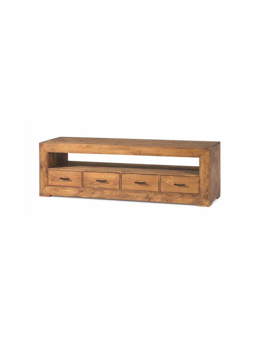 comprar mueble tv rustico madera zoom 180