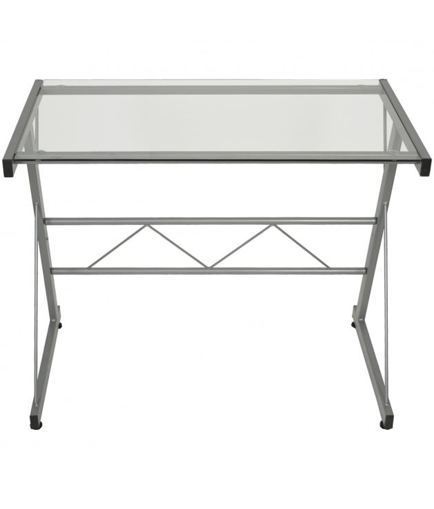 Mesa ordenador metal/cristal