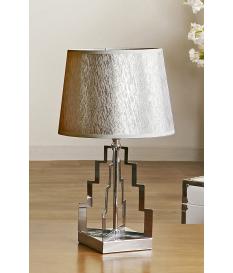 Lámpara de sobremesa Guida plata baja