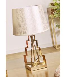 Lámpara de sobremesa Guida dorada baja
