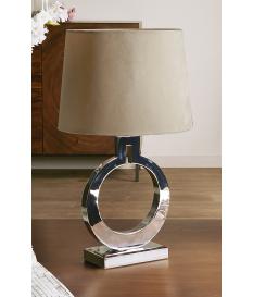 Lámpara de sobremesa Hanne plata alta