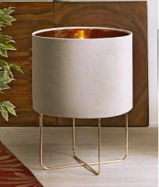 Lámpara de sobremesa Heiko beige