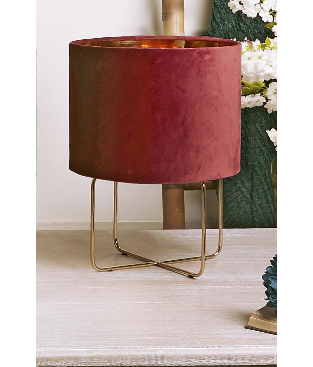 Lámpara de sobremesa Heiko rojo oscuro