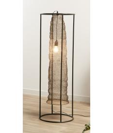 Lámpara de pie Kiya bronce y negro