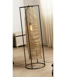 Lámpara de pie Kiya dorado y negro