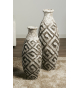 Set dos jarrones decorativos terracota Yanara