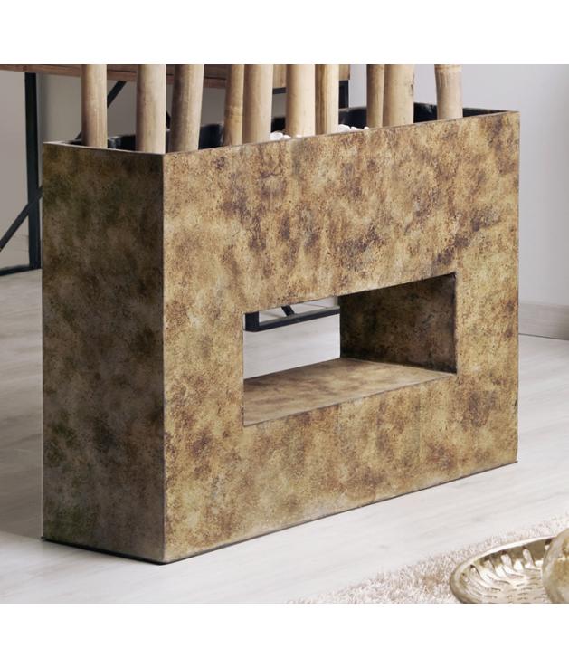 Jarrón decorativo terracota Hagen marrón