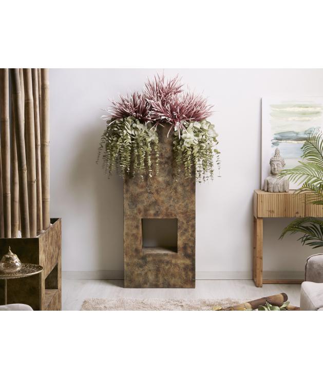 Jarrón decorativo terracota Hagen marrón alto