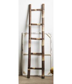 Toallero caña bambú marrón