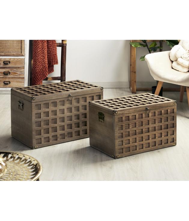 Set dos baúles con cuadrados