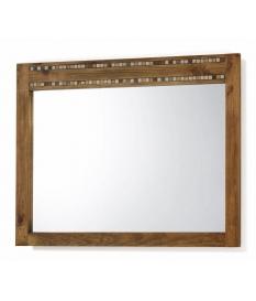 Espejo rustico madera con detalle