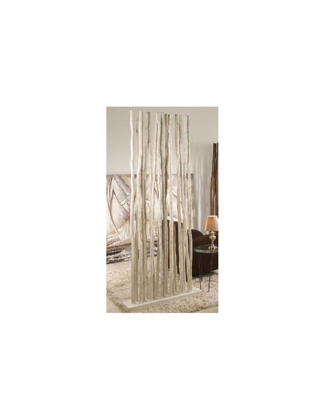 Comprar separador ambientes ramas madera teka biombo for Mueble separador de ambientes