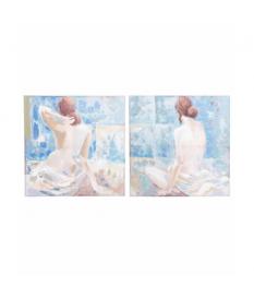 Set 2 lienzos mujer de espaldas