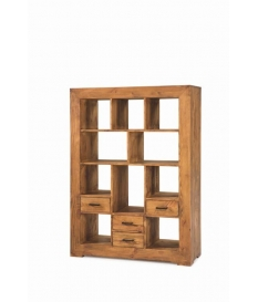 Librero madera rustico