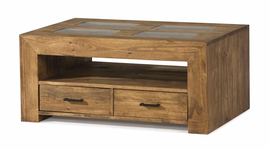 Mesas de madera rustica mesa de centro artesana rstica for Mesas de centro rusticas